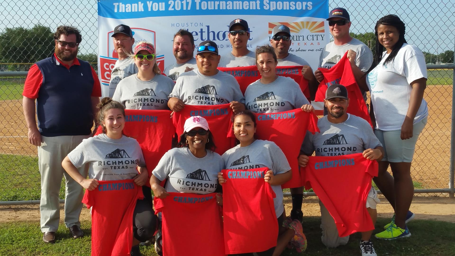 City employees- Richmond Legends- win the Community Challenge softball tournament