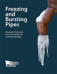 Freezing and bursting pipes