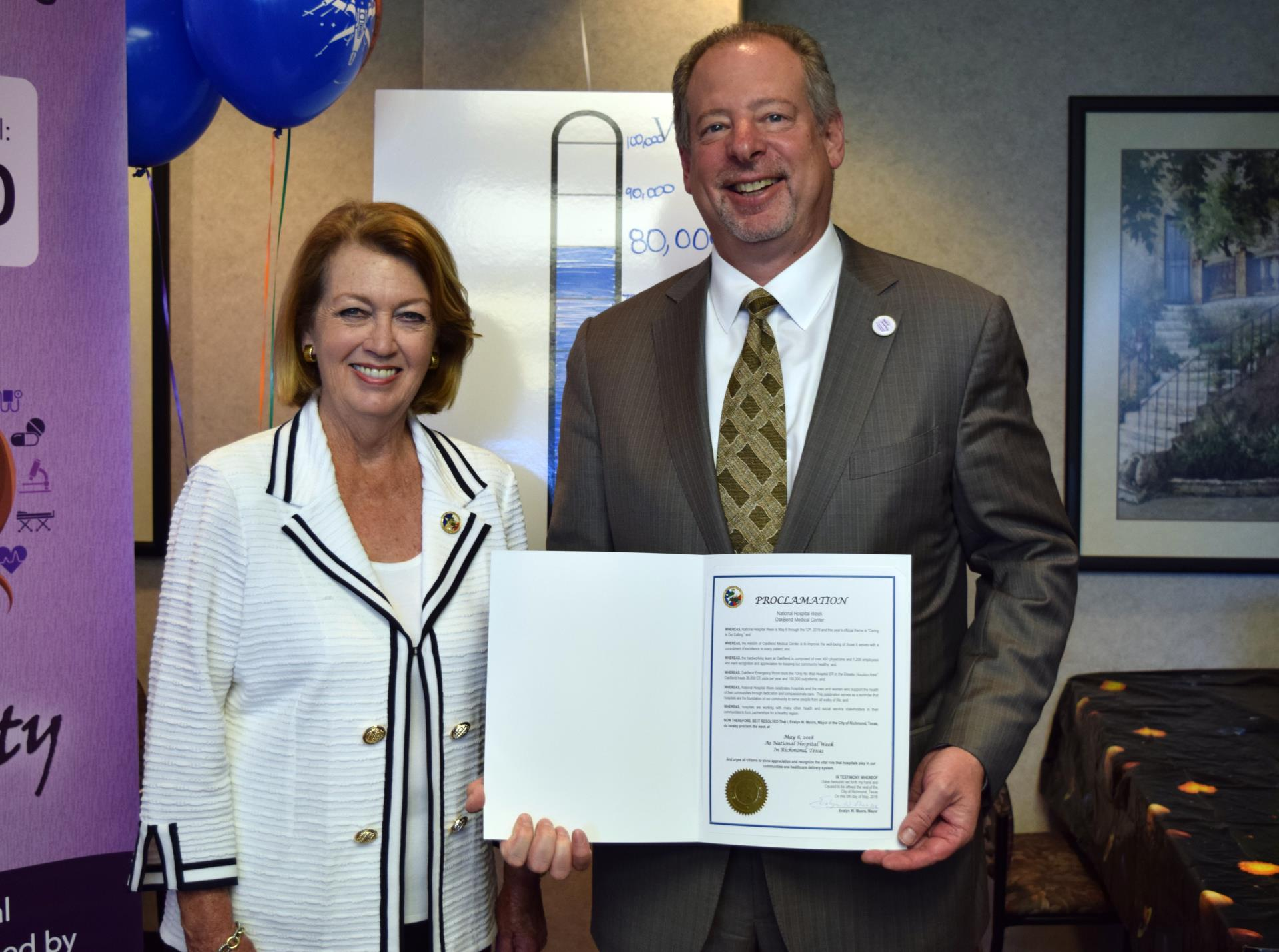Hospital Week Proclamation with Mayor Moore