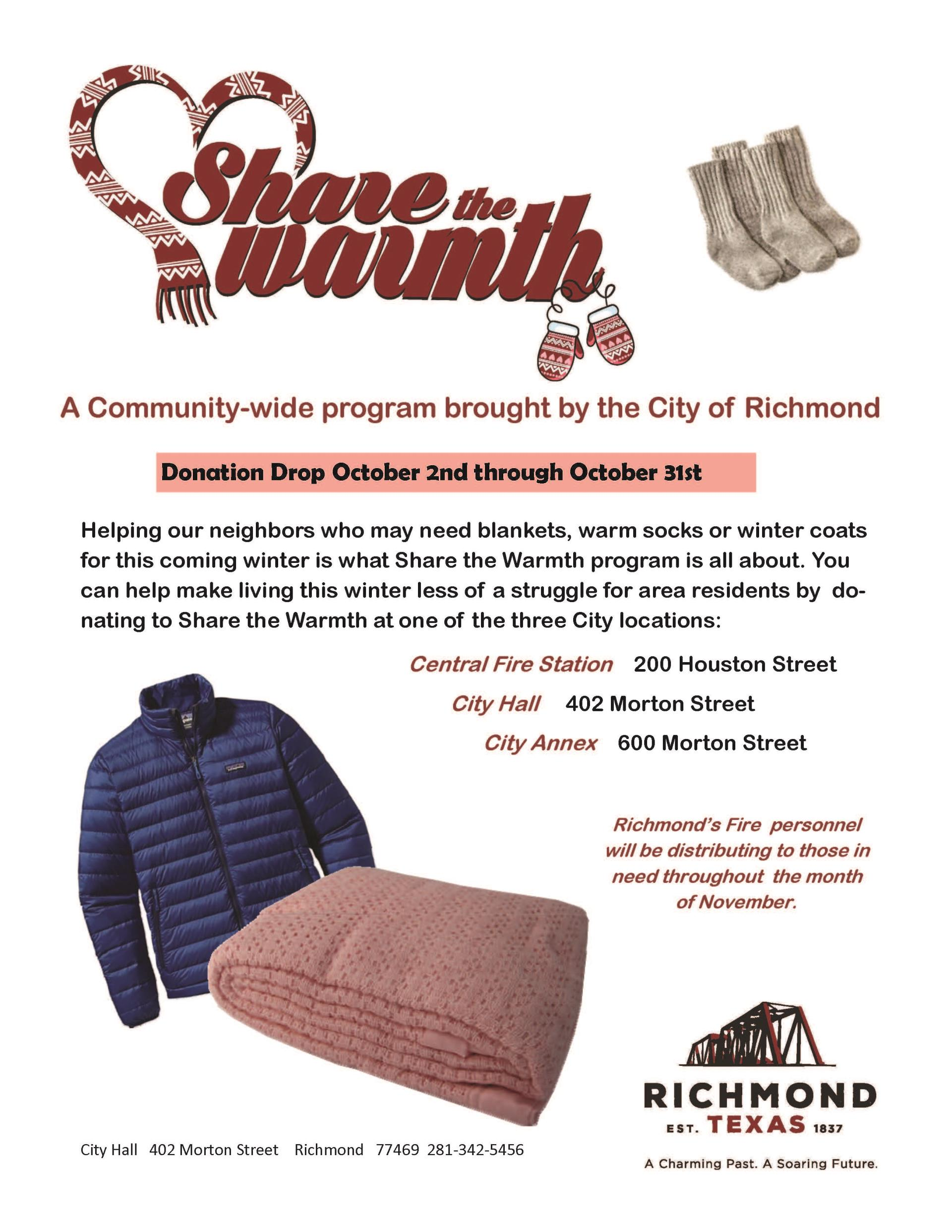 The City of Richmond's Share The Warmth Community Program Ends