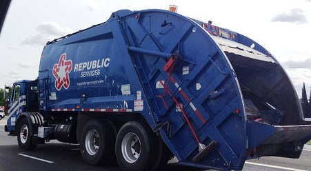 Republic Services Large Waste Truck