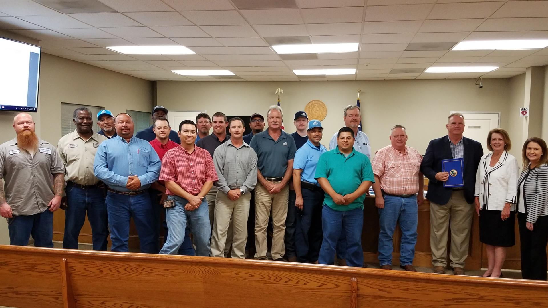 Public Works Week 2018 Commission meeting photo of team