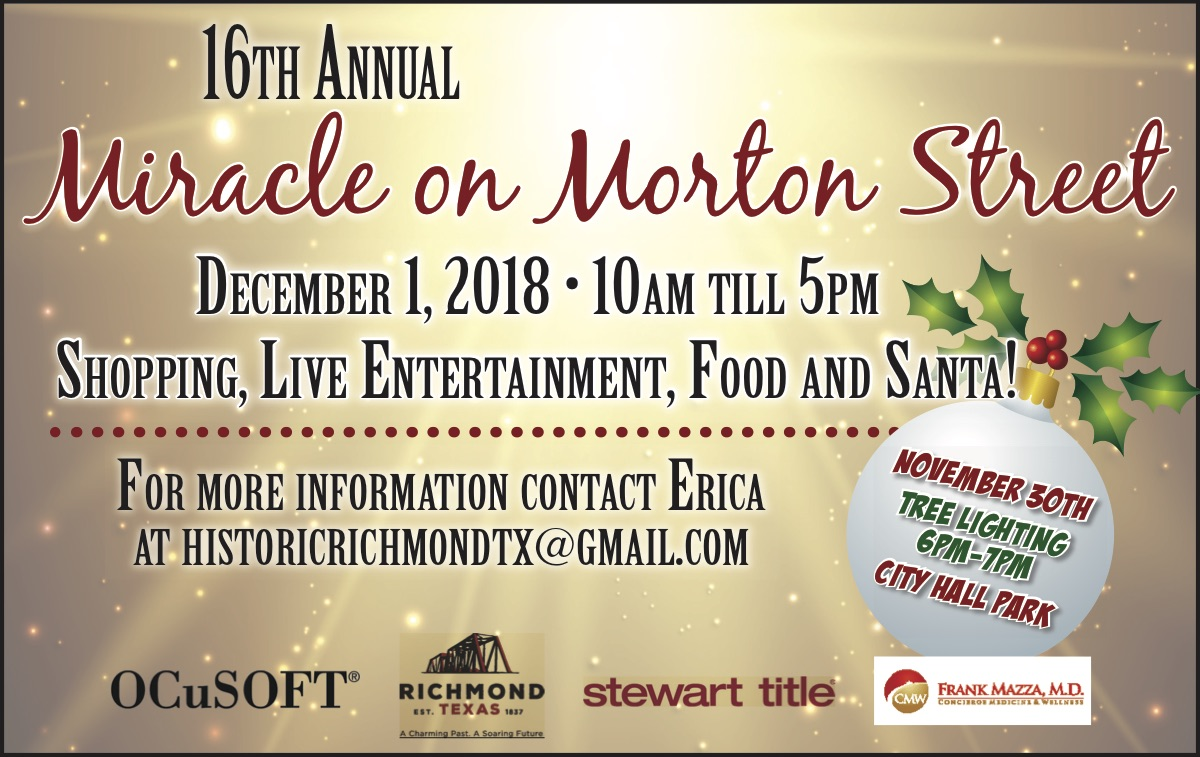 Miracle On Morton Street Dec. 1 & Tree Lighting Nov.30.2018