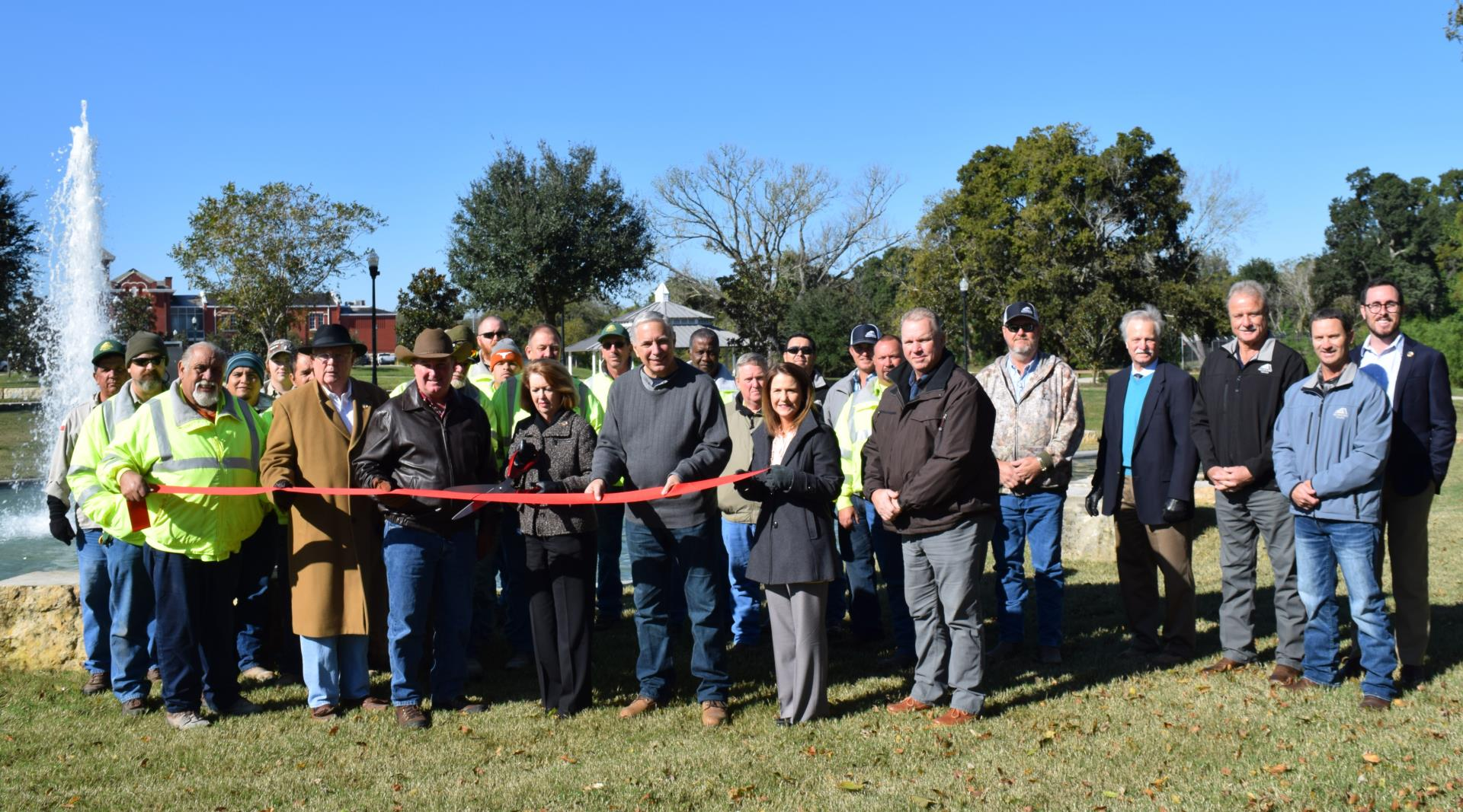 Wessendorff Park Fountain Ribbon cutting Nov. 15, 2018