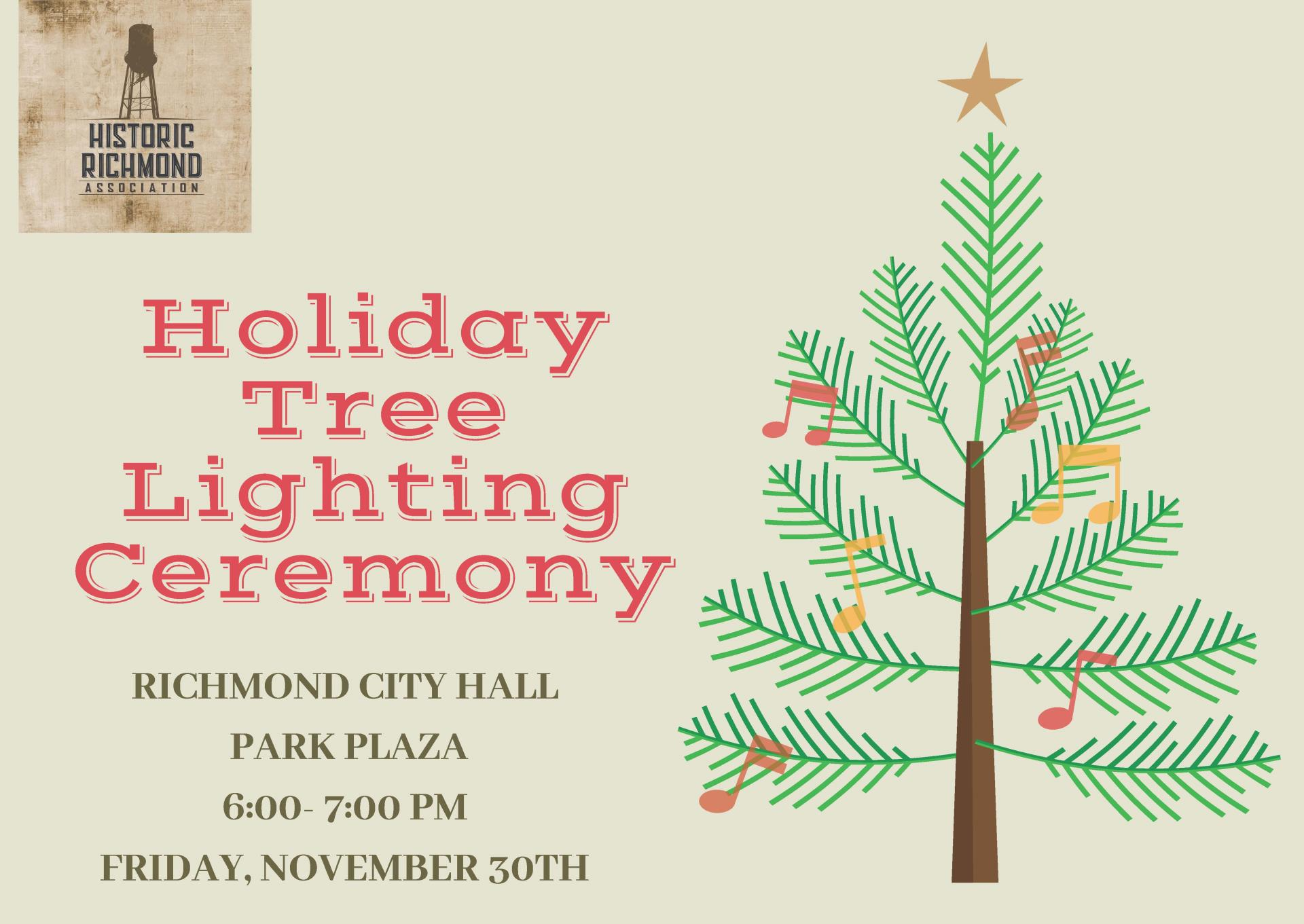 2018 Holiday Tree Lighting Invitation