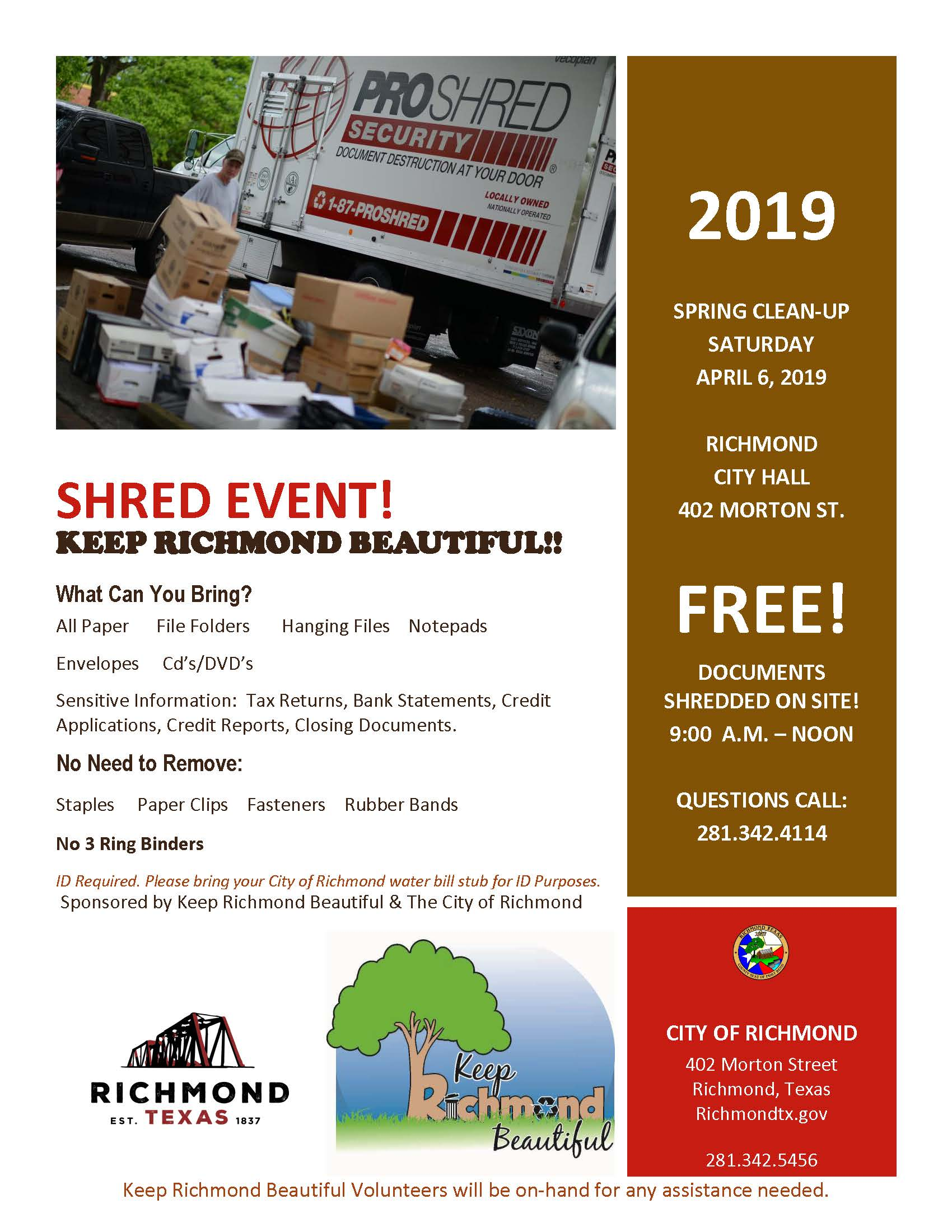 Annual Document Shred Event | Calendar | City of Richmond