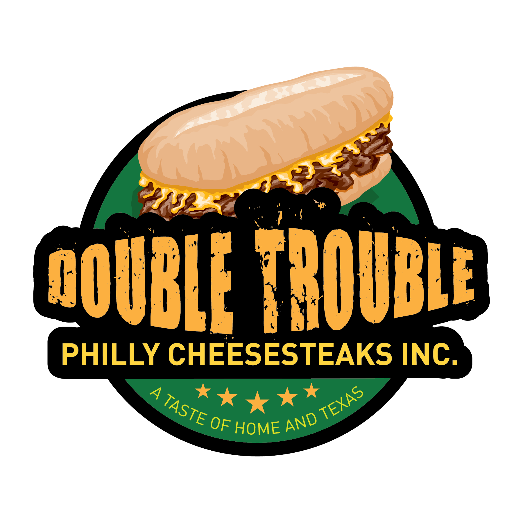 Double Trouble Philly Cheesesteaks logo