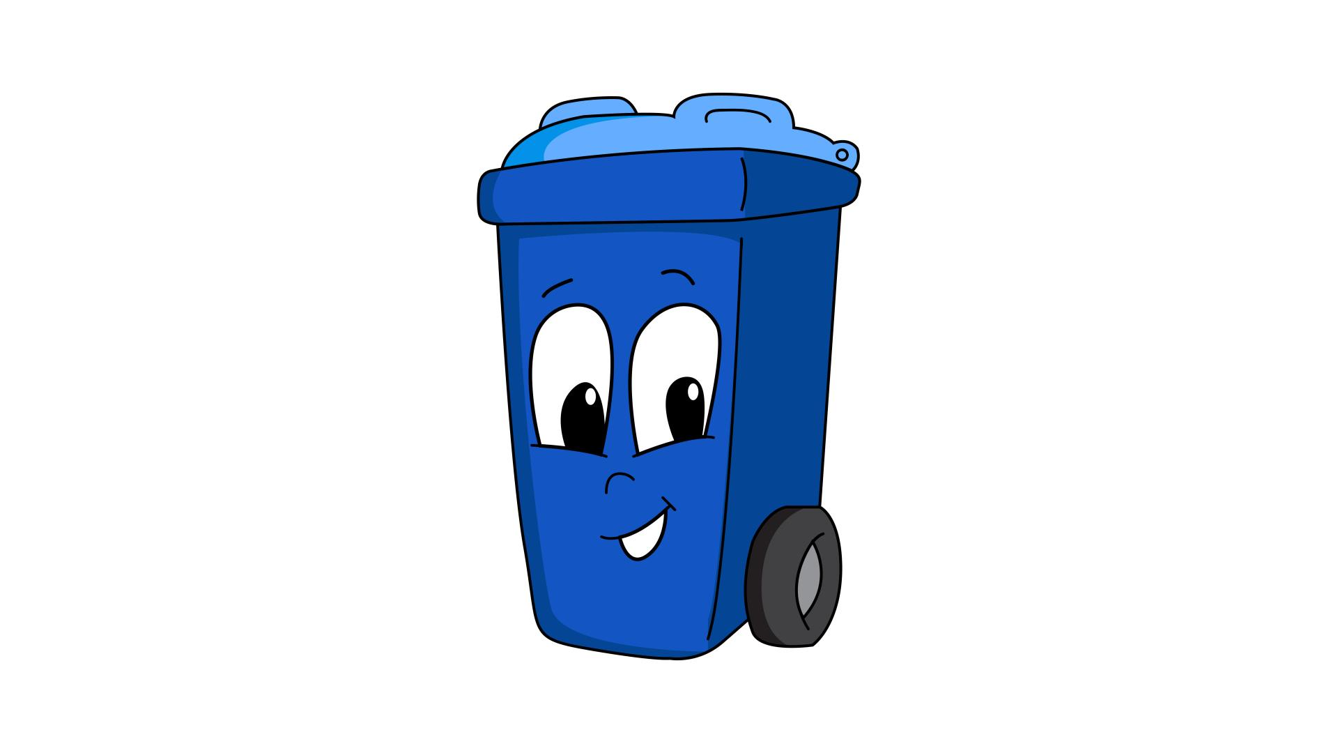 Animated trash bin Image